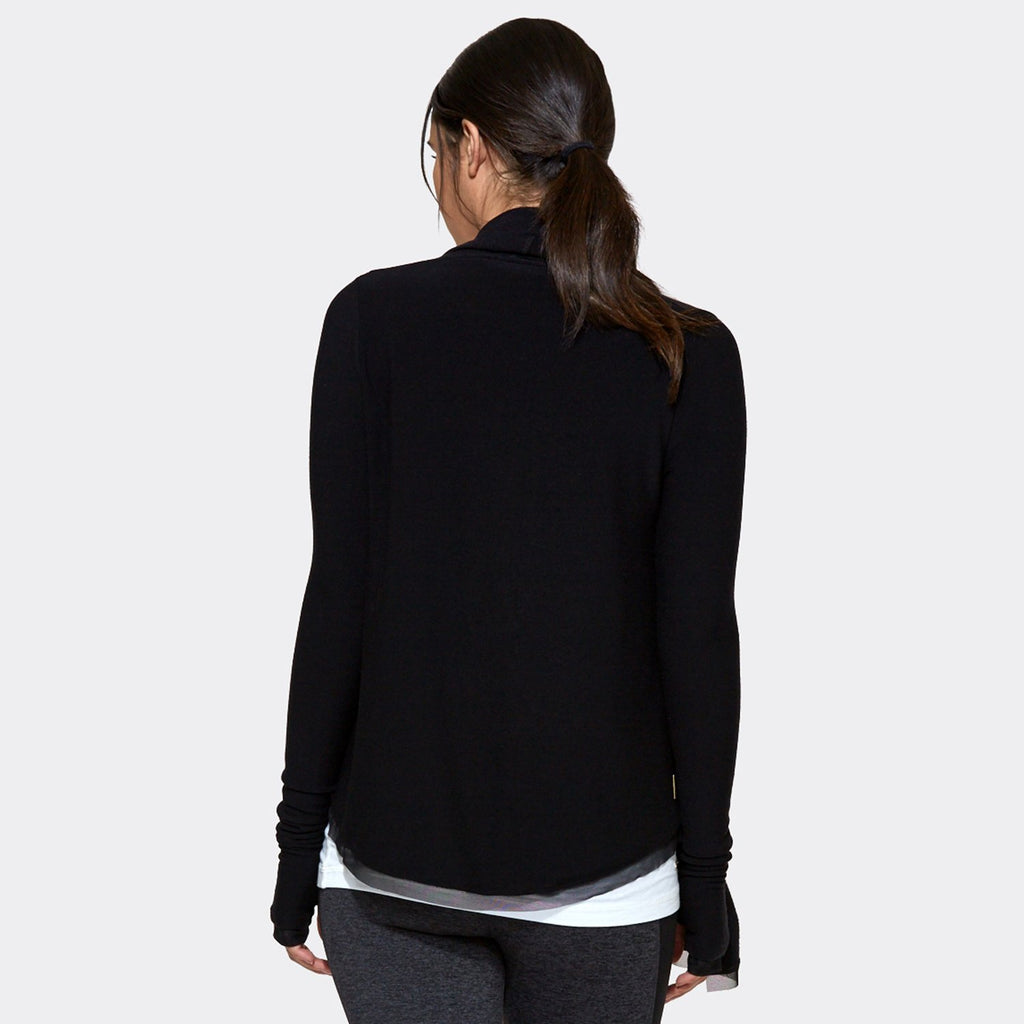 Everyday Cardigan in Black, {View 3} | Alala | Luxury Women's Activewear | Style meets Sport