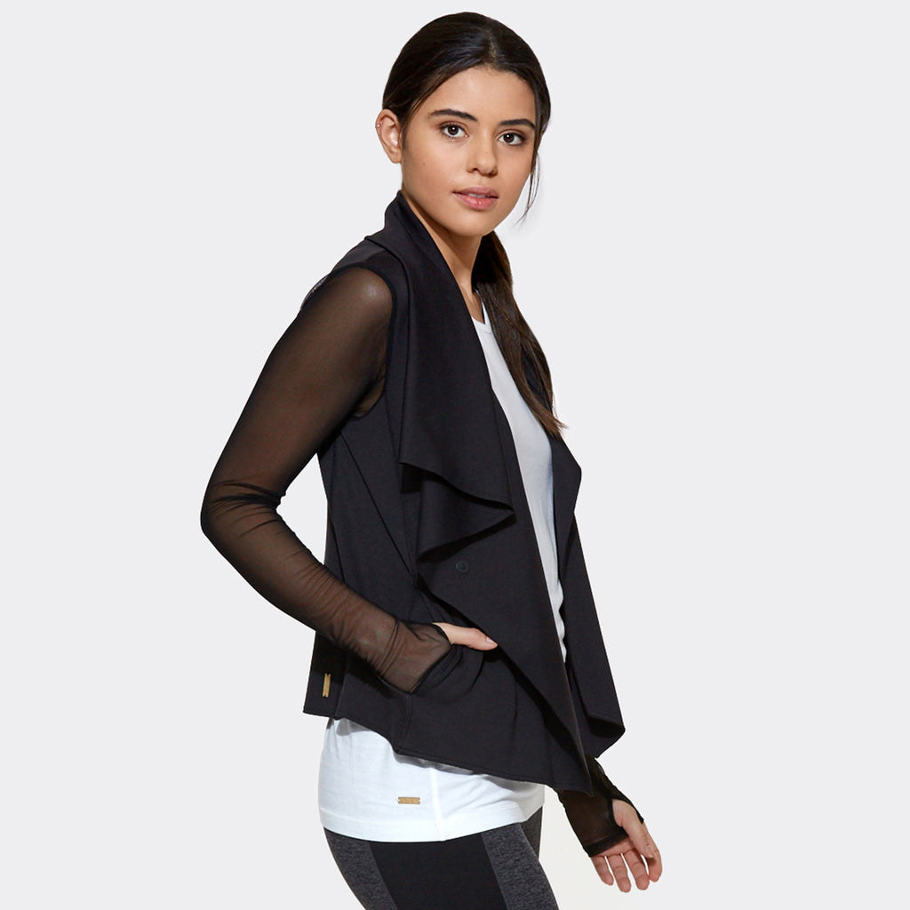 Sophisticate Jacket in Black, {View 2} | Alala | Luxury Women's Activewear | Style meets Sport