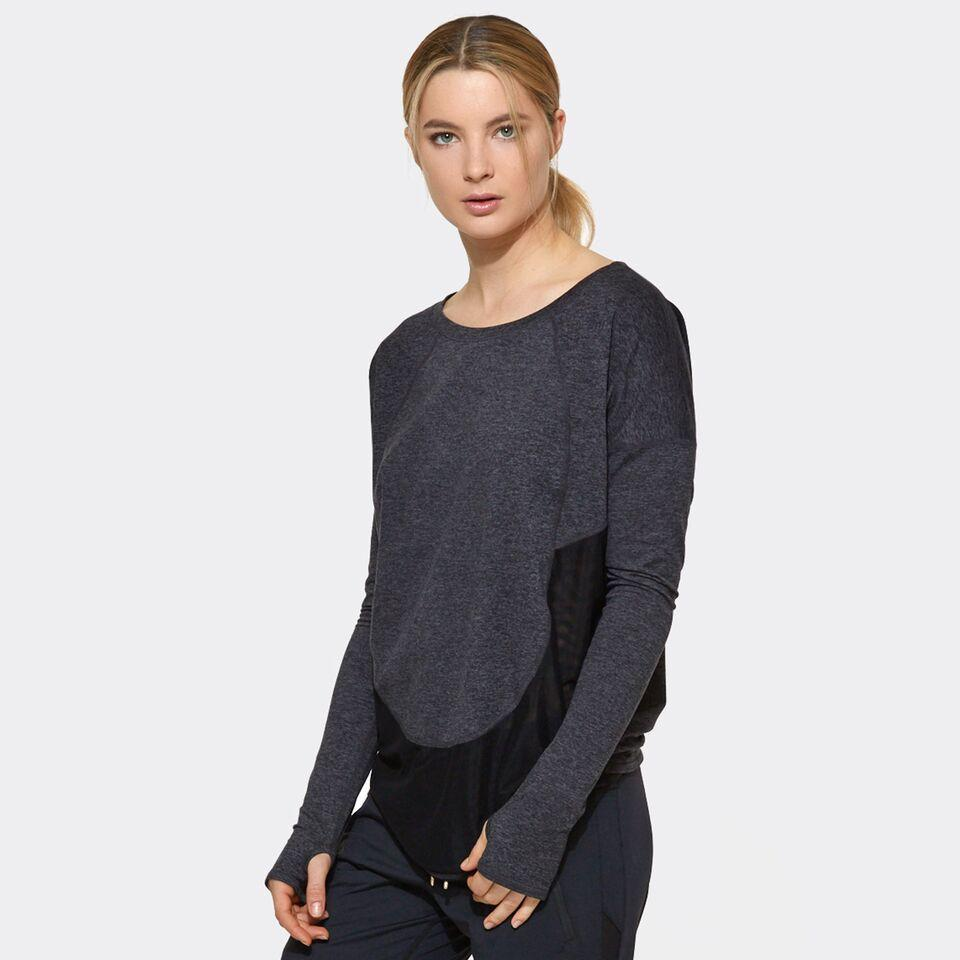 Cool Down Tee in Charcoal, {View 1} | Alala | Luxury Women's Activewear | Style meets Sport