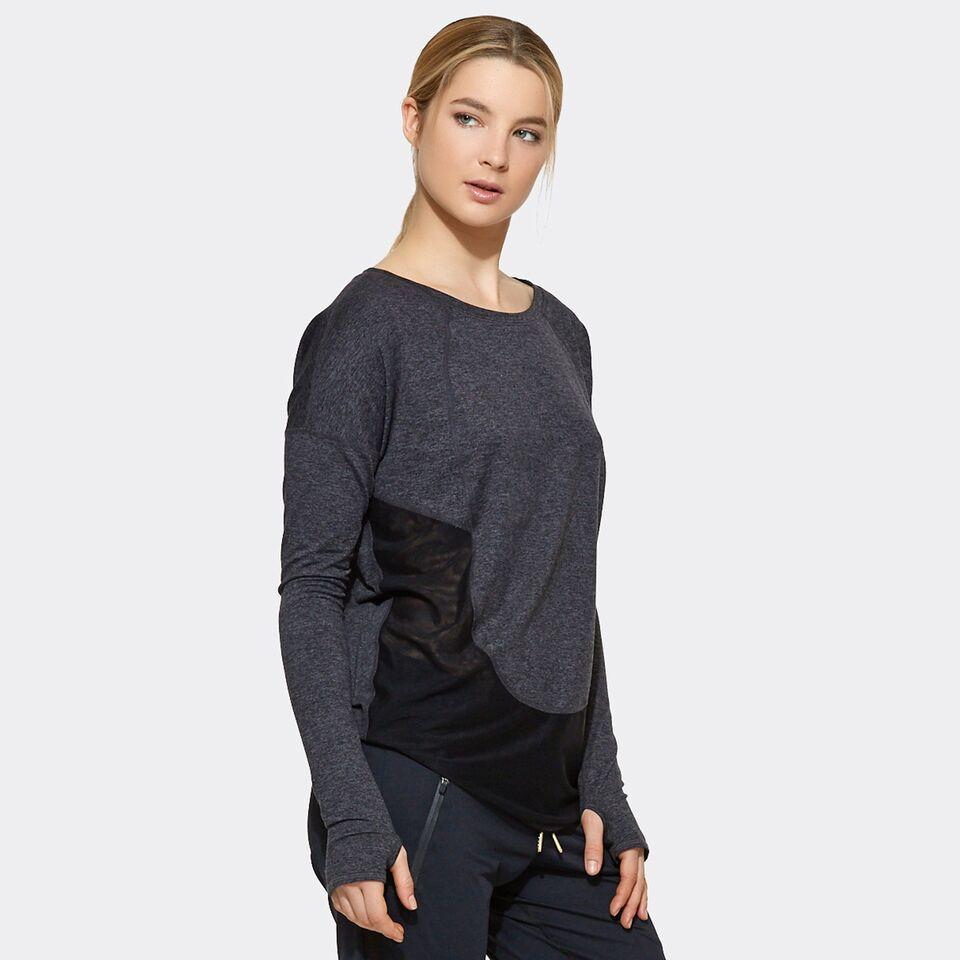 Cool Down Tee in Charcoal, {View 3} | Alala | Luxury Women's Activewear | Style meets Sport