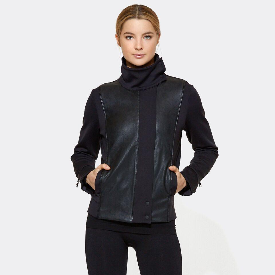 Moto Jacket in Black, {View 1} | Alala | Luxury Women's Activewear | Style meets Sport
