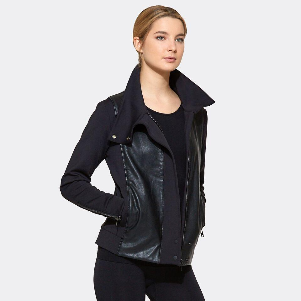 Moto Jacket in Black, {View 2} | Alala | Luxury Women's Activewear | Style meets Sport
