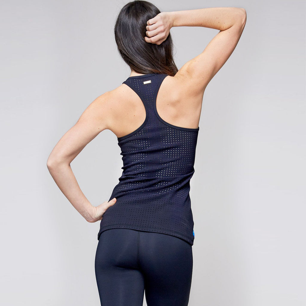 Racer Tank in Electric Stone, {View 3} | Alala | Luxury Women's Activewear | Style meets Sport