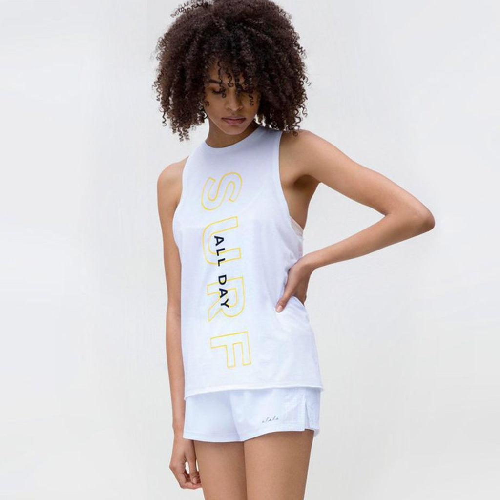 Keyhole Muscle Tee in Surf, {View 1} | Alala | Luxury Women's Activewear | Style meets Sport