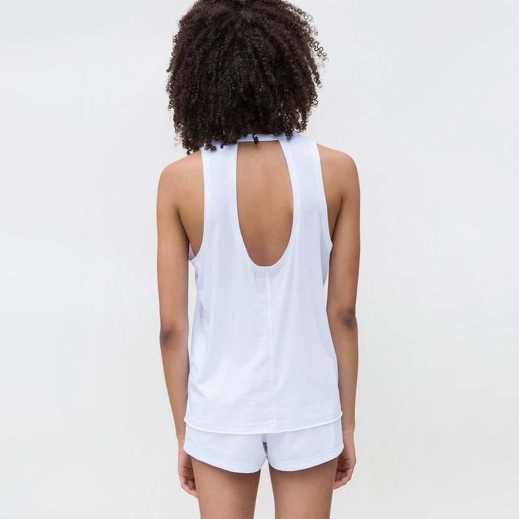 Keyhole Muscle Tee in Surf, {View 2} | Alala | Luxury Women's Activewear | Style meets Sport