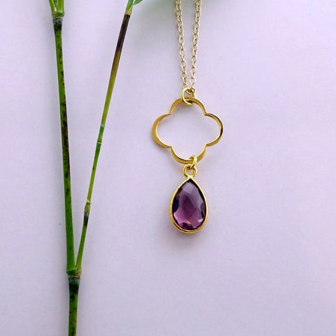 Amethyst Clover Necklace