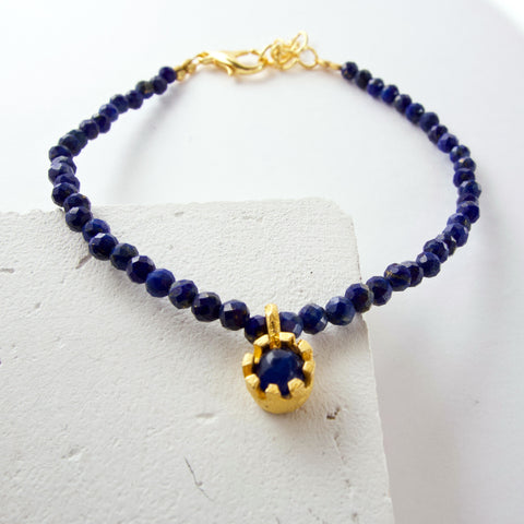 Lapis Friendship Bracelet