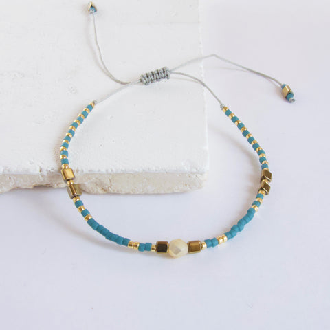 Wish Turquoise Beaded Bracelet