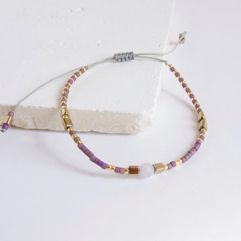 Wish Amethyst Beaded Bracelet