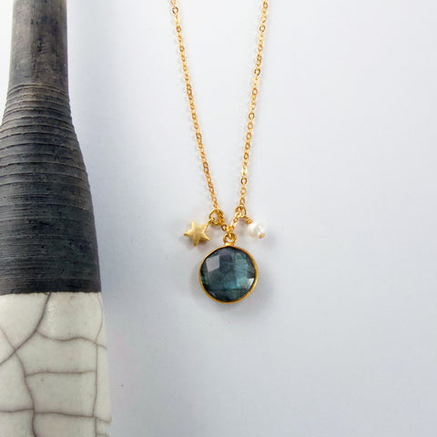 Labradorite Charm Necklace