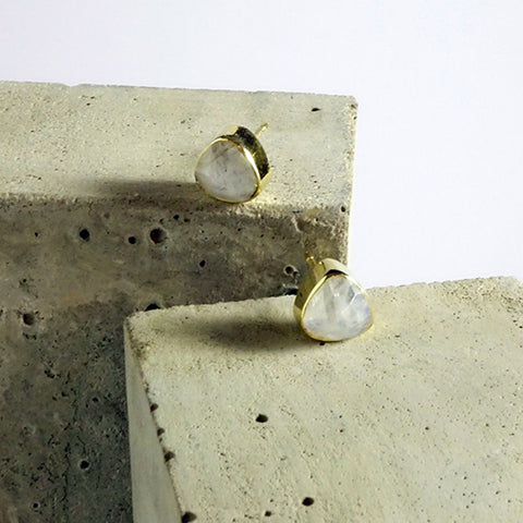 Moonstone Stud Earrings Birthstone