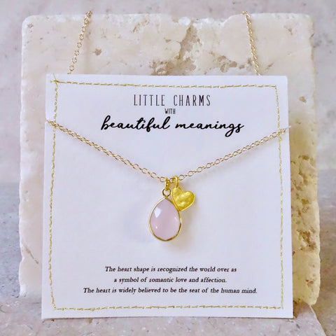 Personalised Gold Heart Birthstone Necklace