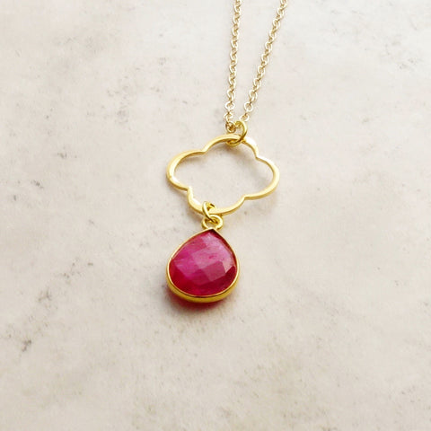 Ruby Clover Necklace