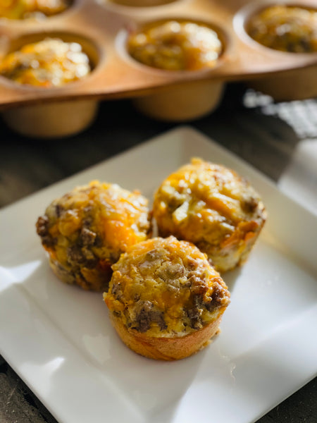 Sausage and Hash Brown Breakfast Muffins (1 dozen)