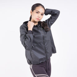 WARM-UP SHIMMER HOODED WMNS TRAINING JACKET
