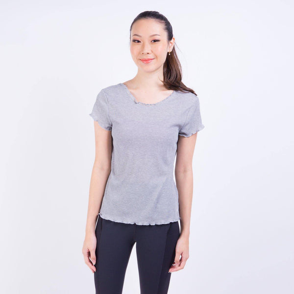YOGA LAYER VNR SHORT SLEEVE T-SHIRT GREY