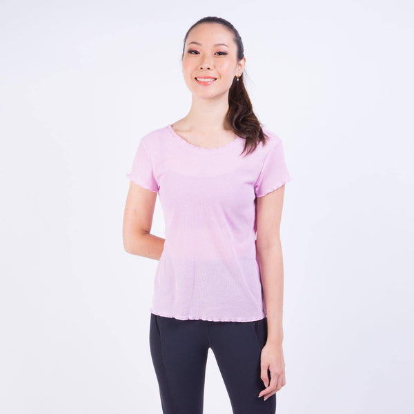 YOGA LAYER VNR SHORT SLEEVE T-SHIRT PINK