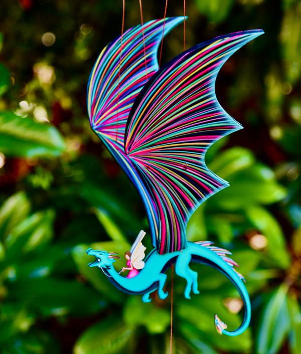 Fairy Riding a Dragon Mobile