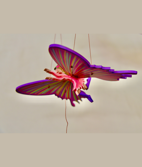 Butterfly Being Mobile Purple