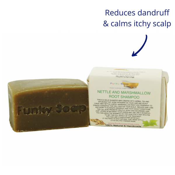 Funky Soap Nettle & Marshmallow Root Shampoo Bar