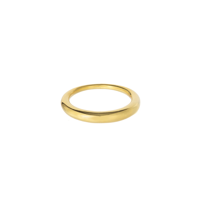 Thick to thin gold plated ring