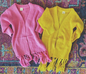 Girls Fringed Cardigan