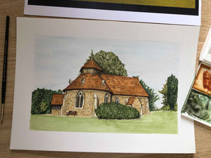Venue / House / Home Illustration - Watercolour Painting
