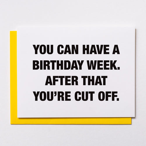 Birthday Week