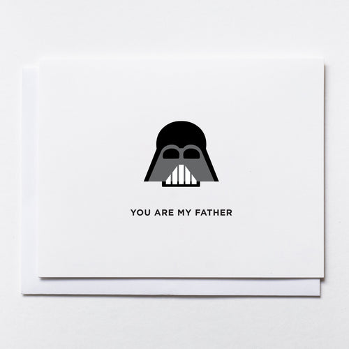Darth Vader-style mask illustration with text: