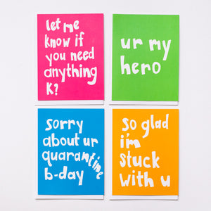 Neon Quarantine (Set of 4)