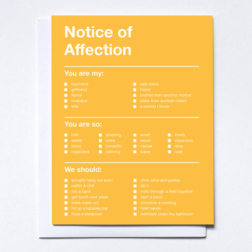Notice of Affection