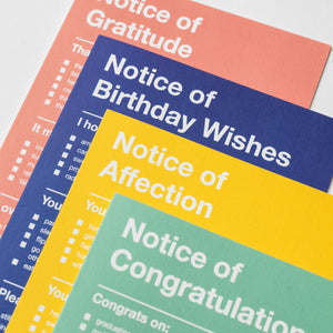 Notice (Set of 4)