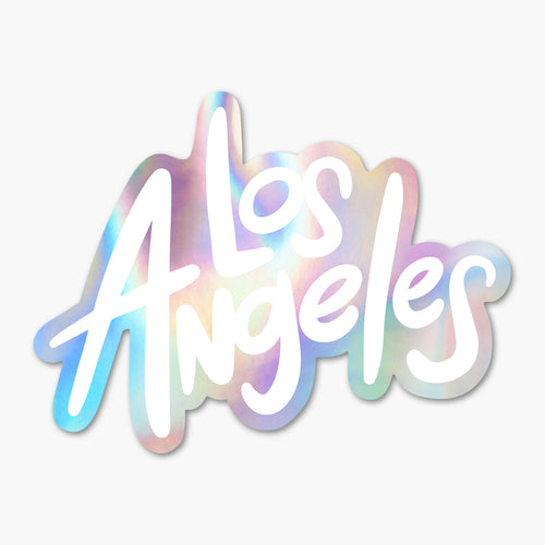 Los Angeles Holographic Sticker