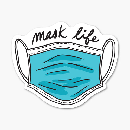 Mask Life Sticker