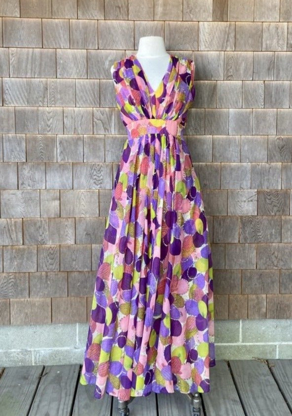 Pink & Purple Feather Perfection Maxi & Wrap