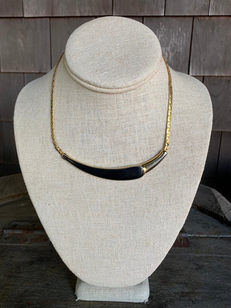 Gold Chain with Black Statement