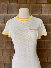 Load image into Gallery viewer, R&K KNITS WHITE DRESS YELLOW C