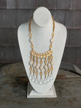 Load image into Gallery viewer, White and Gold Necklace