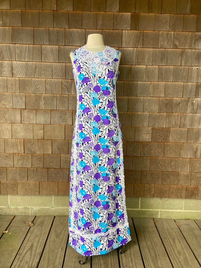 Lilly Maxi Purple and Blue Carnations