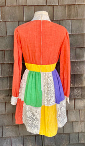 Jonathan Logan Lace Colorblock Dress