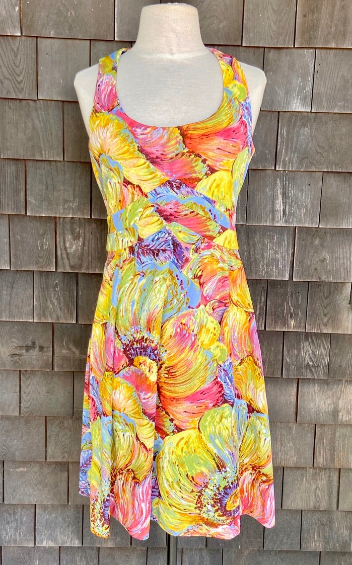 Don Luis Espana Brushstroke Dress