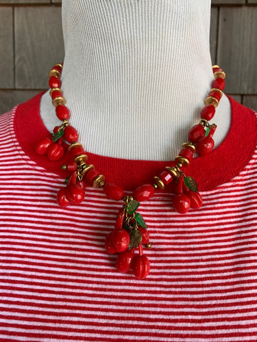 Miriam Haskell Cherry Necklace