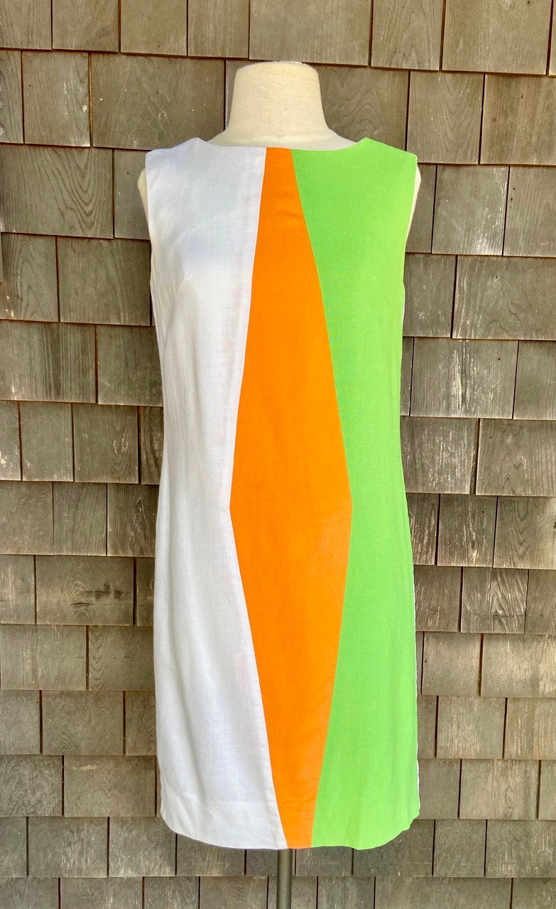 SCENE IV Green/Orange/White Stripe Shift