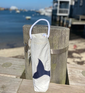 Sea Bag Wine Navy Whale Tail