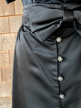 Load image into Gallery viewer, Black Silk Bow Skirt