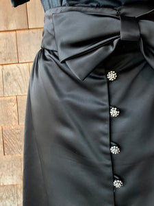 Black Silk Bow Skirt