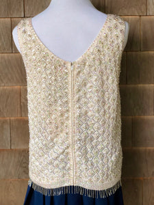 SPARKLY BEADED TOP/Shell