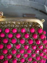 Load image into Gallery viewer, Rosenfeld Fuchsia Beaded Evening Bag