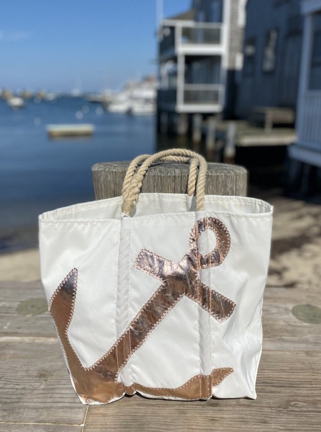 Sea Bag Rose Gold Anchor Tote