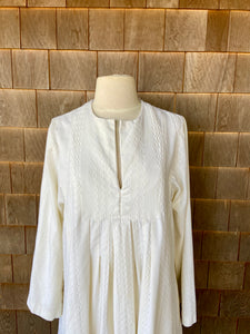 Ivory Embroidered Caftan